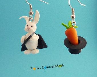 Magician rabbit - earring
