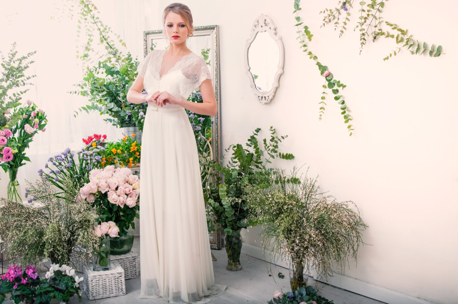Abigail Romantic Wedding Dress With Lace Top And By TheBride2B