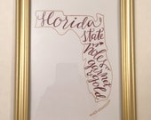 FSU Florida State University Seminole Print - Garnet and Gold Home / Office Decor