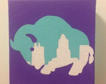Buffalo Cityscape Painting