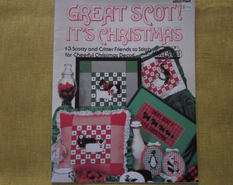Great Scot! It's Christmas, 13 Scottish cross stitch designs,pattern booklet, sheep