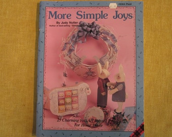 More Simple Joys,by Judy Nutter, 25 charming folk art projects for home decor on wood,patterns, instructions