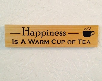 Happiness Scrollsawn Wood Sign