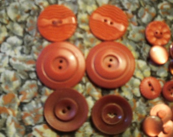 Assorted Vintage Red Buttons