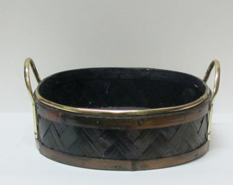 Tray cane and golden metal handles