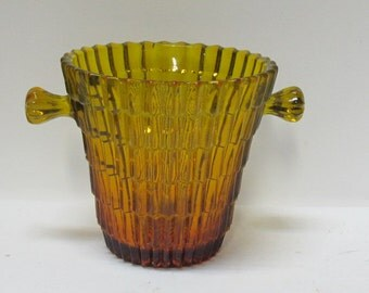 Bucket amber glass