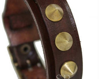 SB PUNK leather bracelet genuine leather wristband first class leather cuff wrist band