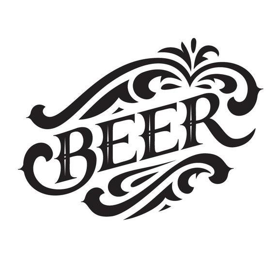Free Shipping Within The Us Beer Vinyl Wall Graphic Decal