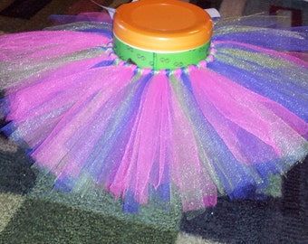 infant/toddler purple, pink, green tutu, elastic waist