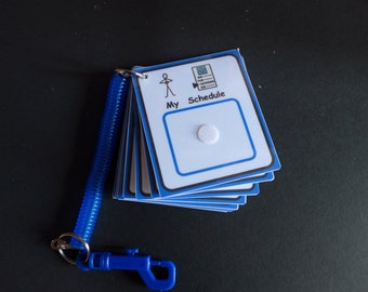 My Daily Schedule Out & About Keyring Visual Support/Aid with 40 Symbols for Autism/ADHD/Visual Learners/SEN/Learning Difficulty