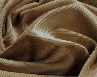 Fabric cotton corduroy beige 1 mm cotton