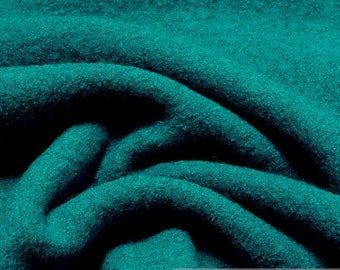 fabric pure wool knitted fabric petrol loden warm