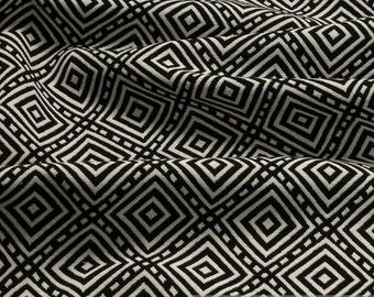 Fabric cotton polyester doubleface jacquard black white diamond pillow slip bag