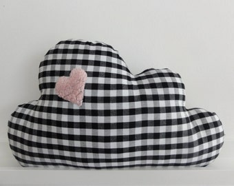 "Cloud pillow ""Heart"" squared, in different sizes"