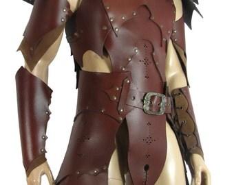 Hard leather ARMOR for man Dark Elf warrior