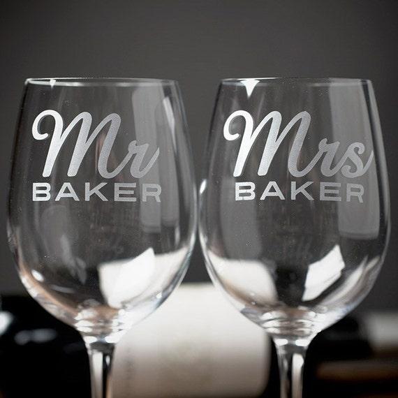 DIY Mr And Mrs Wedding Wine Glass Toasting Flutes