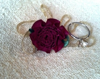 Rosette with Gold Ribbon