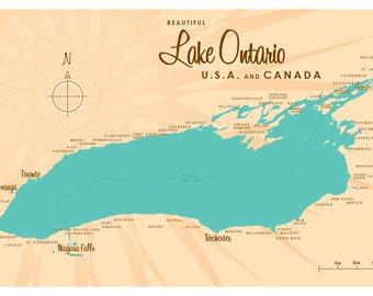 Lake Ontario Map Print