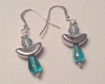 Handmade Ocean Angel Dangle Earrings