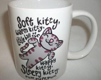 Soft Kitty, Warm Kitty, Inspired by the Big Bang Theory 11oz Mug. Free shipping to UK