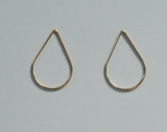 Gold Filled Teardrops, Two Teardrops, 2 pieces, Teardrop Links, Teardrop Charms, Raindrops, 20x30mm, 18 gauge, Fast Shipping from USA