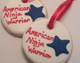 America Ninja Warrior Sugar Cookie - Party Favors, 1 Dozen