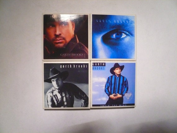 Set Of Four Garth Brooks Magnets 2x2 Inch By Majorlymagnetic