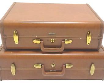 Vintage Samsonite Suitcase Set of Two