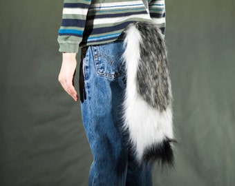 Child's Tri-Color Faux Fur Wolf Tail