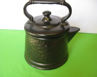 Coffee Pot Cookie Jar McCoy Pottery Black Made in USA