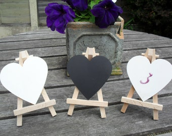 Heart Chalkboards and Easel Table Numbers Chalkboards Wedding Table Numbers Set of 10