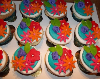 Floral Cupcake Topper