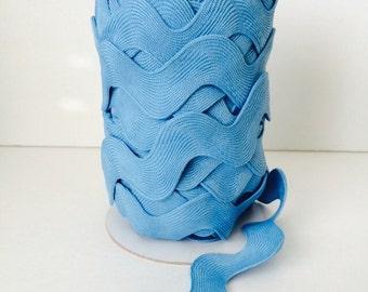 Jumbo Ric Rac- Medium Blue (5 Yard Bundle) Riley Blake Designs