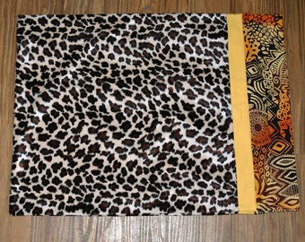Leopard Faux Fur Kitty Bed Slip Cover #114
