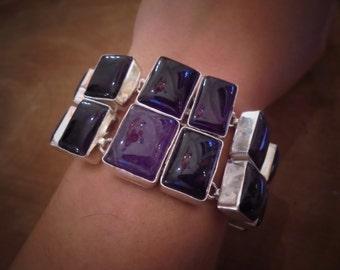Amethyst  sterling silver bracelet.