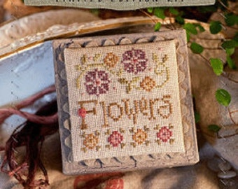 Lizzie Kate Limited Edition Cross Stitch Kit - Flowers #K64