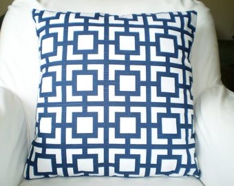 Navy Blue Pillow Covers Decorative Throw Pillows, Cushion Covers, Throw Pillow, Couch Pillows, Decorative Pillow, GiGi One or More All Sizes