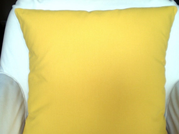 Yellow Decorative Pillows For Bed : Solid Yellow Pillow Covers Decorative Throw by PillowCushionCovers