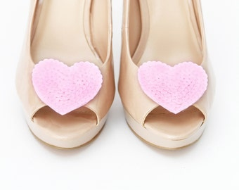 Wild at heart Pink shoe clips