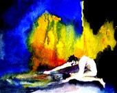 Mythology Narcissus Greek Underworld Fine Art Painting Print 5x7