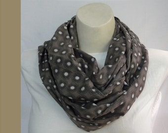 Summer Infinity scarf Loop scarf Circle scarf Cowl Tube scarf light cotton Spring Summer Autumn  Ready To SHIP