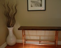 Industrial-Chic Copper pipe bench/Shoe Rack