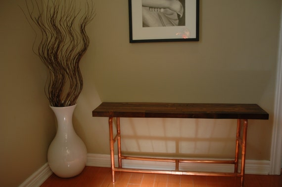 industrial chic copper pipe bench shoe rack. Black Bedroom Furniture Sets. Home Design Ideas