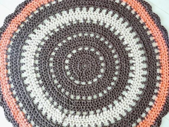 Uncinetto tappeto rotondo boho tappeto tappeto centrino - Tappeto mandala ...
