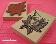 Lily Flower Stamp / Invoke Arts Collage Rubber Stamps