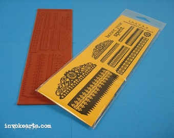 Honor Your Spirit / Invoke Arts Collage Rubber Stamps / Unmounted Stamp Set