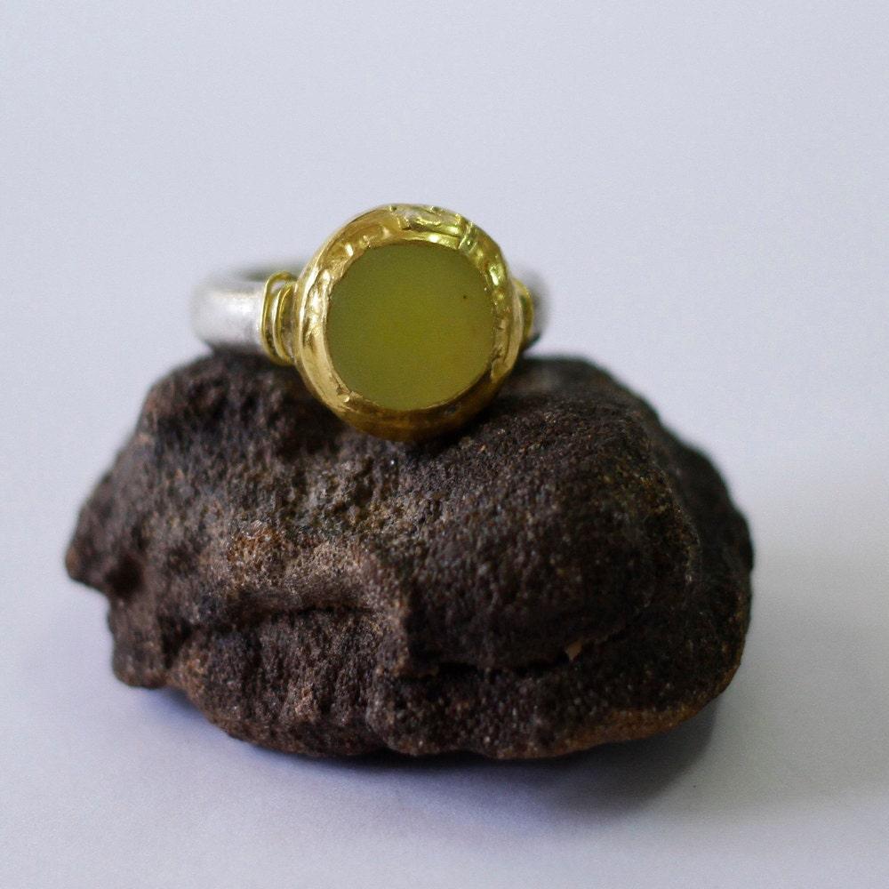 lemon jade ring jade engagement ring jade wedding band by. Black Bedroom Furniture Sets. Home Design Ideas