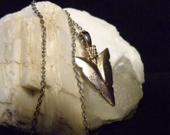Golden Arrowhead Necklace