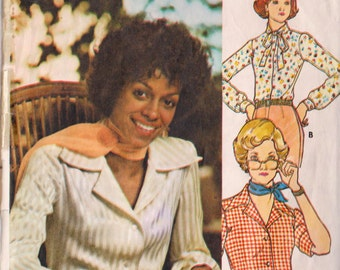 Butterick 5727 Vintage 1970s Blouse Sewing Pattern