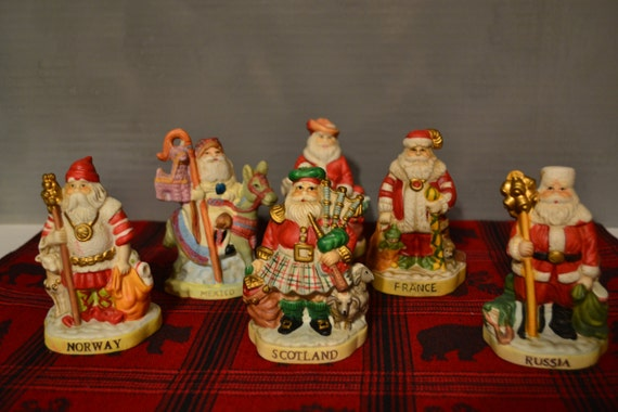 Sale santas of the nations figurines